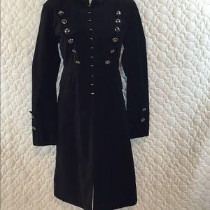 SOLD - no longer available. Women's velvet coat